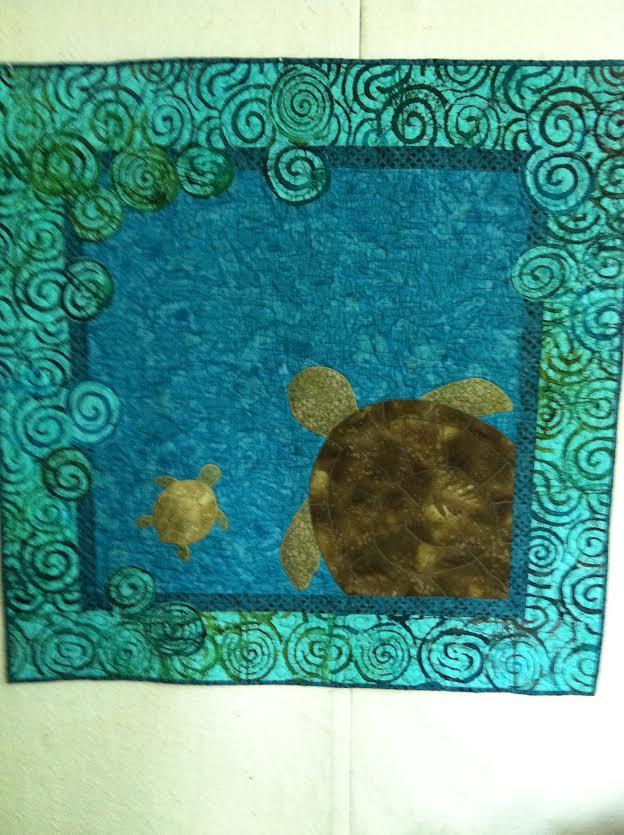 MJ quilt blue